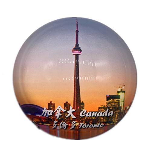 Toronto Tower Kanada Kühlschrank Kühlschrankmagnet Stadt Welt Kristallglas Handgemachte Tourist Travel Souvenir Sammlung Geschenk Starke Wort Brief Aufkleber Kinder