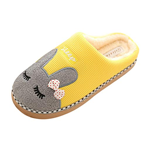 Hausschuhe Warme Pantoffeln Damen Herren Winter Plüsch Katze Stiefel Home DOLDOA