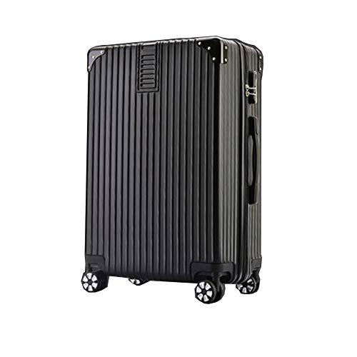Gepäckstück Hartschalen-Reise-Trolley-Koffer Student Passwortbox Universalrad 4 Twin Spinner Wheels Blue-26inch-black