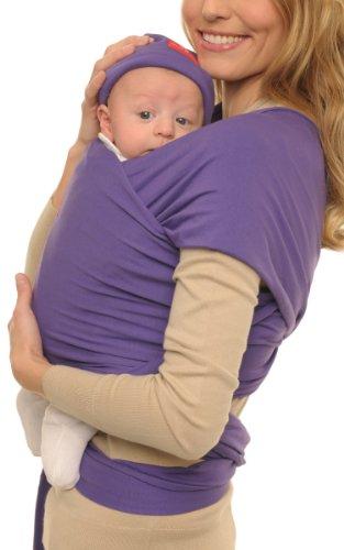 Quaranta Settimane - Babywrap Fascia porta bebè,da 0 a 3 anni ,Viola Zen