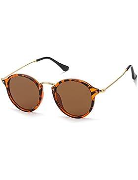 Redondas Retro Polarizadas Gafas de Sol Con Gafas de Sol Para Conducir Viajes Playa, 100% de Protección Contra...