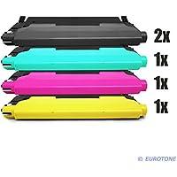 5x Eurotone Toner Cartucho para Samsung CLX 3170 3175 FW FN N sustituye CLT-P4092C Negro Azul Rojo Amarillo