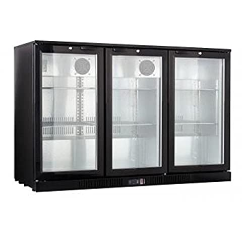 KOOL NRLB-BD320A Triple Door Bottle Cooler Black