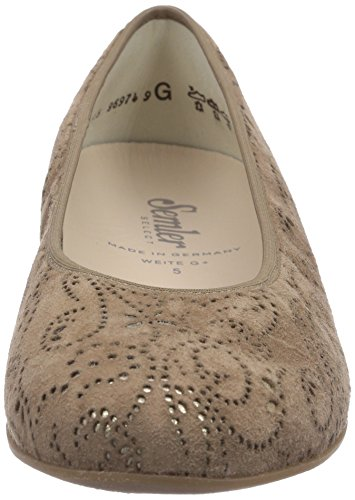 Semler Nancy, Ballerines Fermé Femme Marron (146 camel-gold)