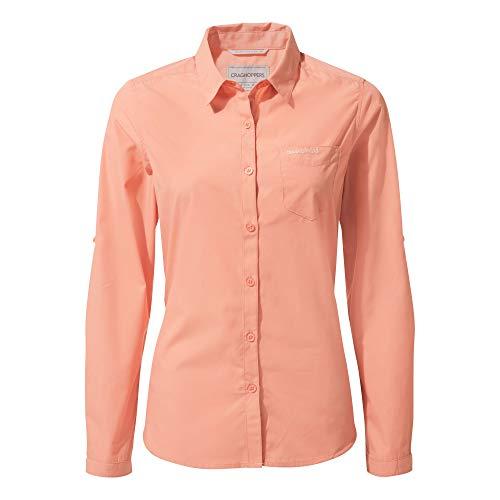 Craghoppers Damen Kiwi Long Sleeved Hemd,rosa(Rosette),42 -