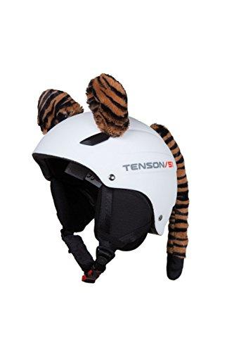 Accessori CASCO Orecchie TIGRE da applicare al casco sci moto adulti bamb