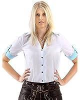Almbock Trachten-Bluse Damen kariert oder weiß - Viele Modelle von Größe 34-44 in rot, dunkelblau, lila, beere, grün, pink, weiß