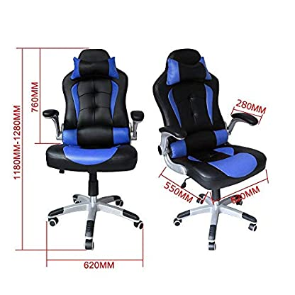 HG® Pu Racing Chair Silla De Oficina Comfort Executive Chair Silla Giratoria Naranja Altura Ajustable Capacidad De Carga 120 Kg