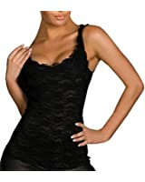 SUNNOW® Women's Sexy Floral Lace Sleeveless Blouse Shirts Vest Tank Tops