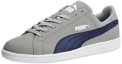 Puma Unisex Smash Nubuck Limestone Grey and Peacoat Boat Shoes - 10 UK