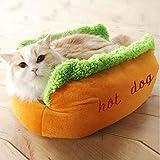 JLFDHR Cuscino per Animali Domestici Caldo Caldo Morbido Cuscino per Cani Cuscino per Animali Modello a Forma di U Hot Dog DogAmaca per Gatti Tappetino per Gatti Cat-in Letti e tappetini