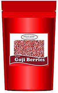 Iceland Naturals Goji Berries Freshly Dried, Extra Large Berries (200g) Gojiberries Natural Super Food