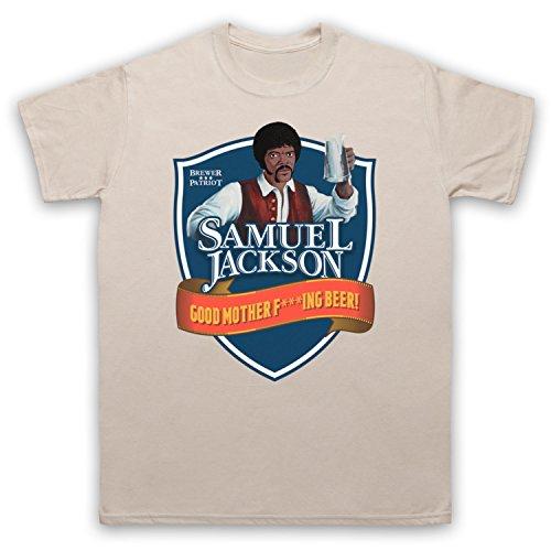 Samuel Jackson Good Motherf'ing Beer Chappelle Show Parody Herren T-Shirt Beige