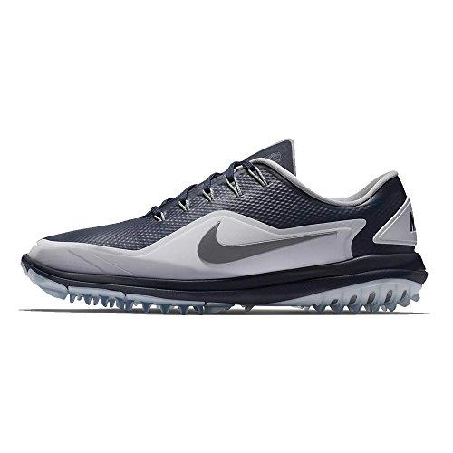 NIKE Men's Lunar Control Vapor 2 Golf Shoes, Thunder Blue/Reflect Silver-White, 11.5 M US -