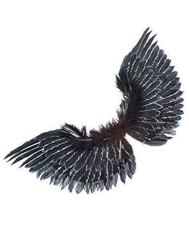 Engelsflügel schwarz mit Glitzer keine (Hölle Himmel Und Kostüme)