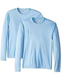 Hanes T-shirt Cool Dri Lot de 2T-shirt à manches longues pour homme UPF 50+