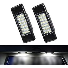 VIGORFLYRUN PARTS LTD 2pcs LED Luz de Matrícula Bombilla Licencia Número Placa Lámparas de Luz para