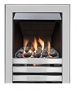 Limerick Slimline Radiant Top Control Gas Fire - Brushed Steel