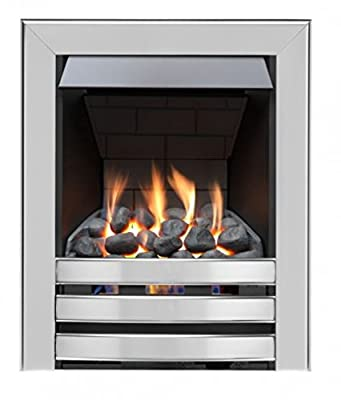 Limerick Slimline Radiant Gas Fire - Brushed Steel