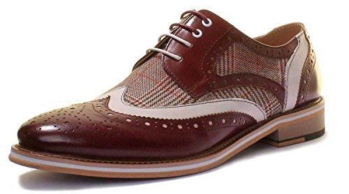 Justin Reece Manley, Zapatos Con Cordones Para Hombres De Vino