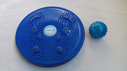Unison Fitness Twister Disc,Fitness Balance Board, Balance Twist Board mit Magneten, Magnetic Foot Massage, Durchmesser 28 cm inkl. Massageball 70 mm