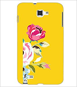 PrintDhaba Flower D-1981 Back Case Cover for SAMSUNG GALAXY NOTE 1 (Multi-Coloured)