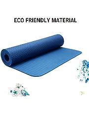 Strauss TPE EcoFriendly Yoga Mat 6mm Blue