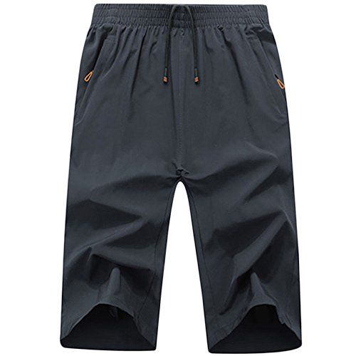LEOCLOTHO Pantalón Corto Hombre Elástico Shorts