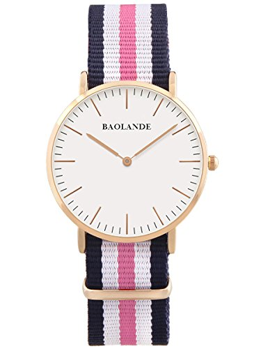 alienwork-classic-stmawes-montre-quartz-lgant-quartz-mode-design-intemporel-classique-nylon-or-rose-