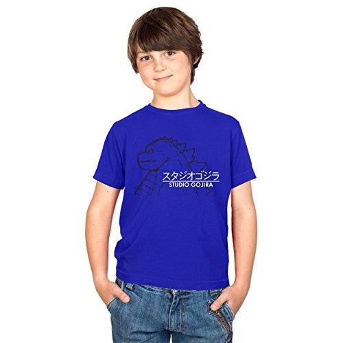 TEXLAB - Studio Gojira - Kinder T-Shirt, Größe S, marine