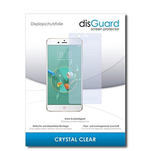 disGuard® Displayschutzfolie [Crystal Clear] kompatibel mit Nubia Z17 Mini [4 Stück] Kristallklar, Transparent, Unsichtbar, Extrem Kratzfest, Anti-Fingerabdruck - Panzerglas Folie, Schutzfolie