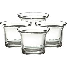 12bicchieri lumino, candela profumata vaso bicchieri, forma, ø 6,5cm, portacandela, lumino vetro, Nord luce–kontor Exclusiv, (Vaso Di Vetro Bicchiere)