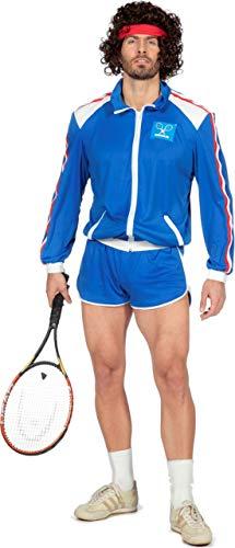 80er Jahre Tennisstar Retro Trainingsanzug Tennisspieler 80`s