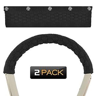 Geekria Haarband, für Sennheiser HD1in-Ear, Sony wi1000X, Bose qc30, LG Hbs 1100, Hbs 910, Wireless Stereo Headset Ersatz Kopfband/Komfort Kissen/Top Pad Displayschutzfolie Sleeve (Schwarz 2)
