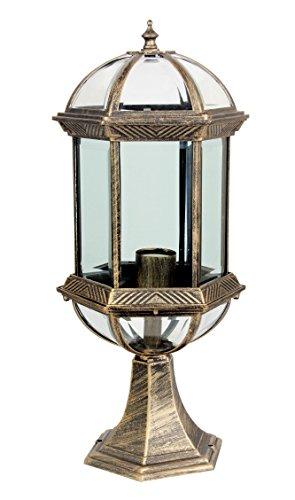 Lámpara de sobremuro para exterior Color oro viejo.