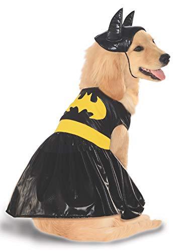 Batgirl Haustier Kostüm - Rubies Costume DC Heroes and Villains Collection Haustierkostüm, XL, schwarz/grau
