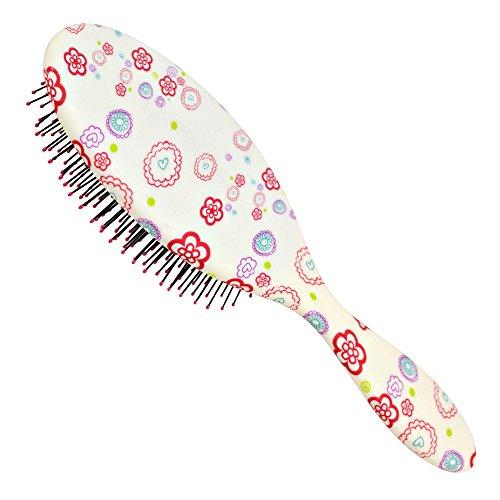 K-Pro Haarbürste für lange und nasse Haare - Ab jetzt ohne ziepen und Knoten - Damen & Kinder Bürste zum Haar entwirren