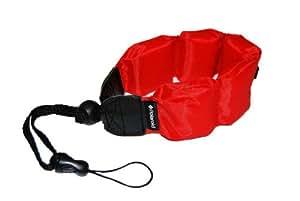 Sangle de poignet flottante de Polaroid (Rouge) pour appareils photo, caméscopes et boîtiers étanches / sous-marins