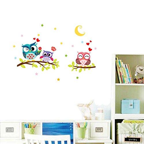 Preisvergleich Produktbild Bovake Abnehmbare wasserdichte Cartoon Tier Eule Wandaufkleber für Kinder Zimmer Home Decor