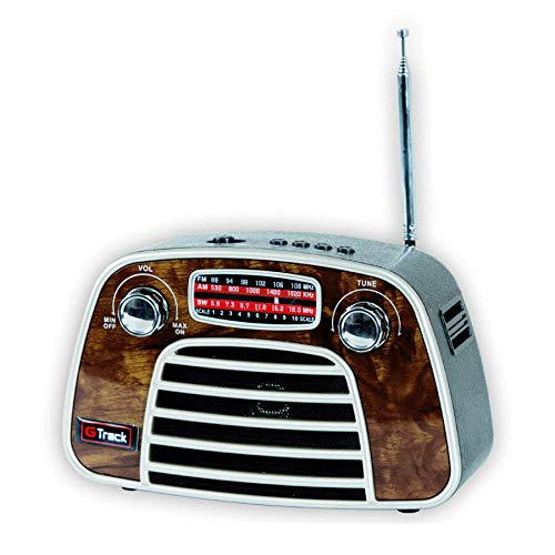 Buy G Track Vintage Classic Portable Radio Bluetooth Speaker FM Micro SD Card USB online in India at discounted price