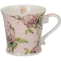 Creative Tops Royal Botanic Gardens - Taza de porcelana, diseño de flores, color rosa