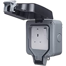 BG Electrical WP21-01 13amp Single Weatherproof Outdoor Switched Power Socket IP66 Rated