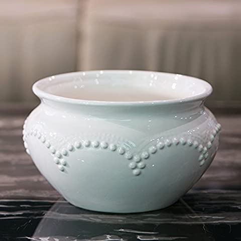 Maivace Ceramic Vase Decorative Ornaments Modern Minimalist Ceramic Round Bowl Flower Bowl Simulation Flower