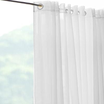 Cortinas Ojales Listas para Colgar Voile Blanco Decoración Hogar