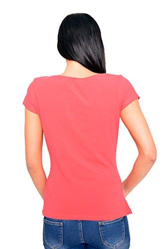 Witzige süße Umstandsmode T-Shirt mit Motiv Schwangerschaft Geschenk - Kurzarm Koralle
