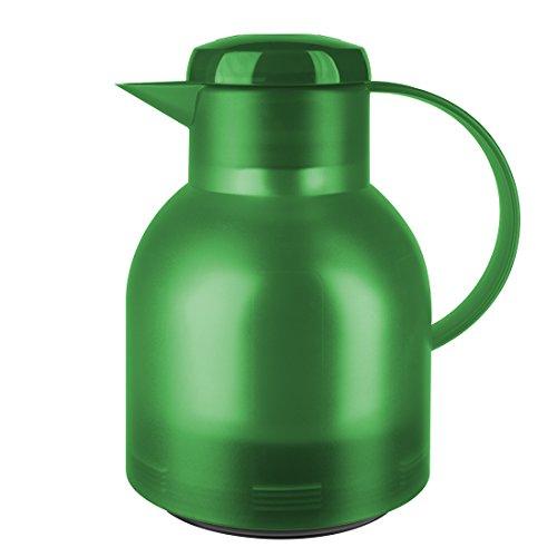 Emsa 509818 Samba Isolierkanne (1 Liter, Quick Press Verschluss, 12h heiß, 24h kalt) grasgrün