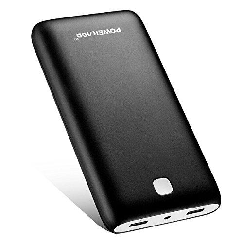 [Versión Mejorada] Poweradd Pilot X7 20000mAh (Salida USB 5V/3.4A*2) Cargador Móvil Portátil Batería Externa Power Bank para iPhone iPad(Cable de Apple no Incluido) Dispositivos Android, Teléfonos móviles y Tableta Color-Negro