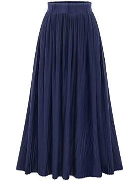 Maxi Falda Plisada para Mujer Falda Larga de Talle Alto