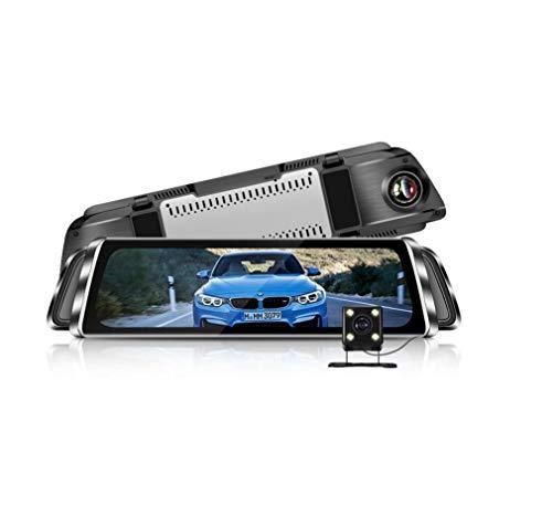 Unbekannt Stream Media Rearview Spiegel-Fahr Schreiber, Dual-Dash-Cams Mit 10