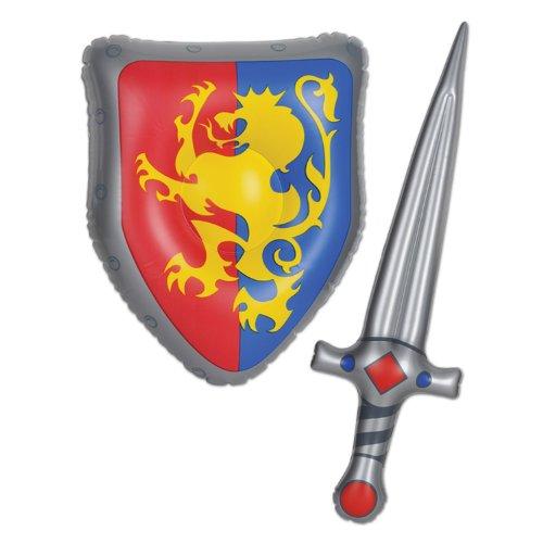 Beistle 57883–Aufblasbares Schwert und Schild Set, 25und ()